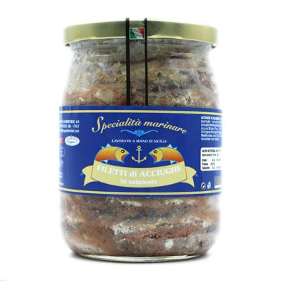 Filets d'anchois en saumure - 580 gr