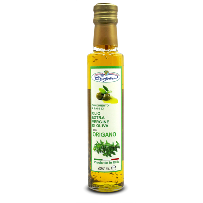 Huile d'olive extra vierge aromatisée à l'origan - 250 ml